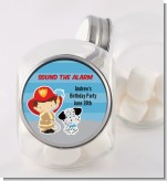 Future Firefighter - Personalized Birthday Party Candy Jar