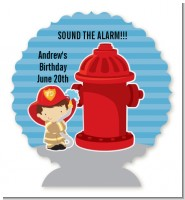 Future Firefighter - Personalized Birthday Party Centerpiece Stand