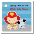Future Firefighter - Personalized Baby Shower Card Stock Favor Tags thumbnail