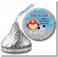 Future Firefighter - Hershey Kiss Baby Shower Sticker Labels thumbnail