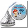 Future Firefighter - Hershey Kiss Birthday Party Sticker Labels thumbnail