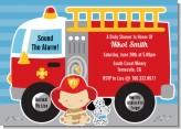 Future Firefighter - Baby Shower Invitations