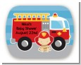 Future Firefighter - Personalized Baby Shower Rounded Corner Stickers thumbnail