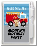 Future Firefighter - Birthday Party Personalized Notebook Favor