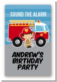 Future Firefighter - Custom Large Rectangle Birthday Party Sticker/Labels