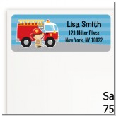 Future Firefighter - Birthday Party Return Address Labels