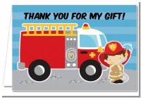 Future Firefighter - Birthday Party Thank You Cards
