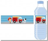 Future Firefighter - Personalized Birthday Party Water Bottle Labels
