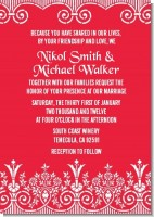 Love is Blooming Red - Bridal Shower Invitations