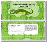 Gator - Personalized Birthday Party Candy Bar Wrappers
