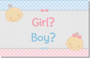 Gender Reveal - Personalized Baby Shower Placemats