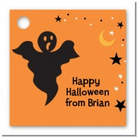 Ghost - Personalized Halloween Card Stock Favor Tags