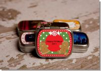 Gingerbread Party - Personalized Christmas Mint Tins