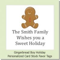 Gingerbread - Personalized Christmas Card Stock Favor Tags