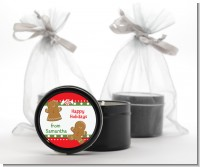 Gingerbread - Christmas Black Candle Tin Favors