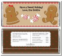 Gingerbread - Personalized Christmas Candy Bar Wrappers