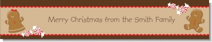 Gingerbread - Personalized Christmas Banners
