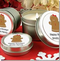 Gingerbread Girl - Christmas Candle Favors