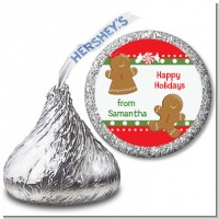 Gingerbread - Hershey Kiss Christmas Sticker Labels
