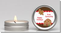 Gingerbread House - Christmas Candle Favors