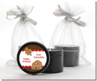 Gingerbread House - Christmas Black Candle Tin Favors