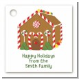 Gingerbread House - Personalized Christmas Card Stock Favor Tags thumbnail