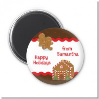 Gingerbread House - Personalized Christmas Magnet Favors