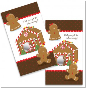 Gingerbread House - Christmas Scratch Off Game Tickets