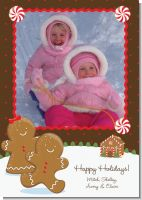 Gingerbread House - Personalized Photo Christmas Cards