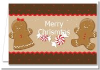 Gingerbread - Christmas Thank You Cards