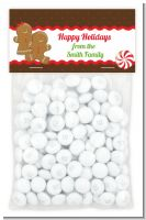 Gingerbread - Custom Christmas Treat Bag Topper
