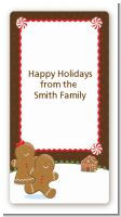 Gingerbread House - Custom Rectangle Christmas Sticker/Labels