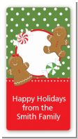 Gingerbread Party - Custom Rectangle Christmas Sticker/Labels