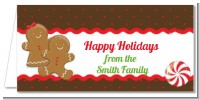 Gingerbread - Personalized Christmas Place Cards