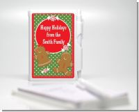 Gingerbread Party - Christmas Personalized Notebook Favor