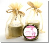 Giraffe Pink - Baby Shower Gold Tin Candle Favors