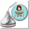 Girl Student - Hershey Kiss School Sticker Labels thumbnail