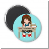 Girl Student - Personalized School Magnet Favors