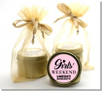 Girls Weekend - Bridal Shower Gold Tin Candle Favors