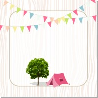 Camping Glam Style Birthday Party Theme