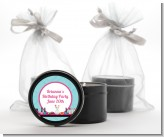 Glamour Girl Makeup Party - Birthday Party Black Candle Tin Favors