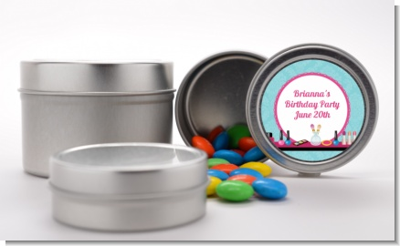 Glamour Girl Makeup Party - Custom Birthday Party Favor Tins