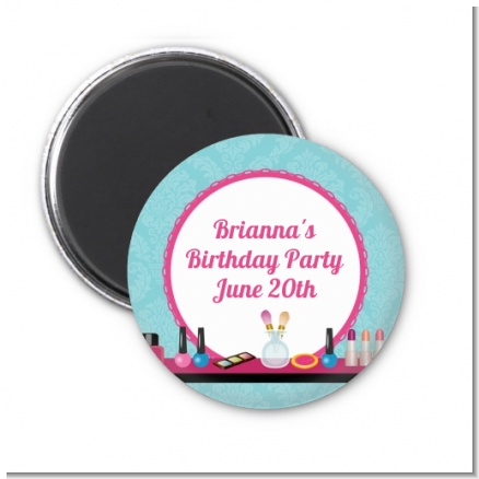 Glamour Girl Makeup Party - Personalized Birthday Party Magnet Favors