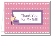 Glamour Girl - Birthday Party Thank You Cards