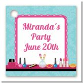 Glamour Girl Makeup Party - Personalized Birthday Party Card Stock Favor Tags