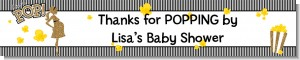 About To Pop Gold Glitter - Personalized Baby Shower Banners