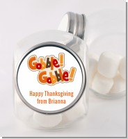Gobble Gobble - Personalized Holiday Party Candy Jar