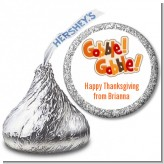 Gobble Gobble - Hershey Kiss Holiday Party Sticker Labels