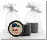 Go Kart - Birthday Party Black Candle Tin Favors
