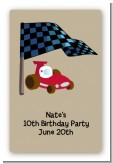 Go Kart - Custom Large Rectangle Birthday Party Sticker/Labels